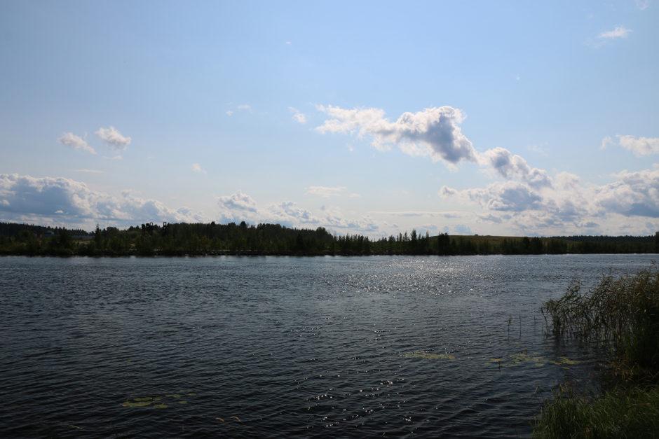 Viel los war hier im Osten Finnlands nicht. Den See hatte ich für mich alleine.