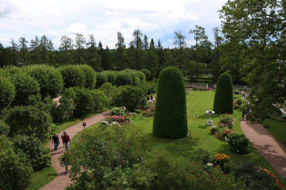 Der wunderschöne Ziergarten des Katharinenparks.