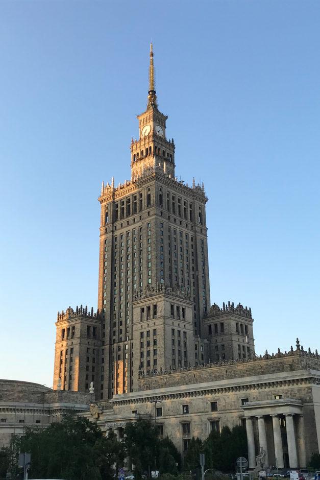 Von Warschau haben wir nicht viel gesehen. Eigentlich nur den Kulturpalast.