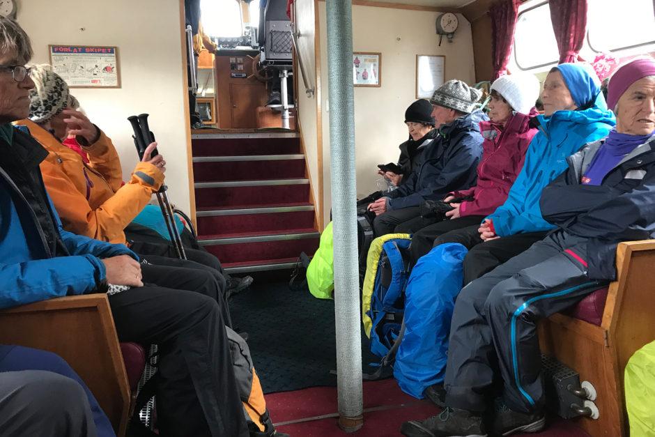 Meine Rettung. Das Boot der Norweger Omis hatte mich mitgenommen!