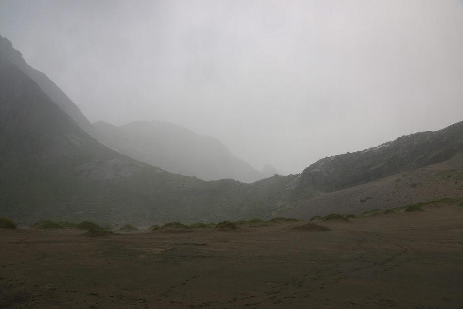 Eins meiner letzten Bilder von diesem Tag. Man sah nur noch die Regenwand.