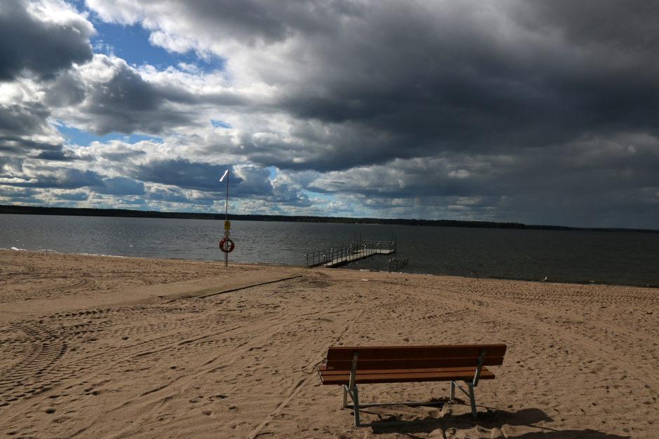 Wieder einmal gehörte der Strand nur mir alleine.