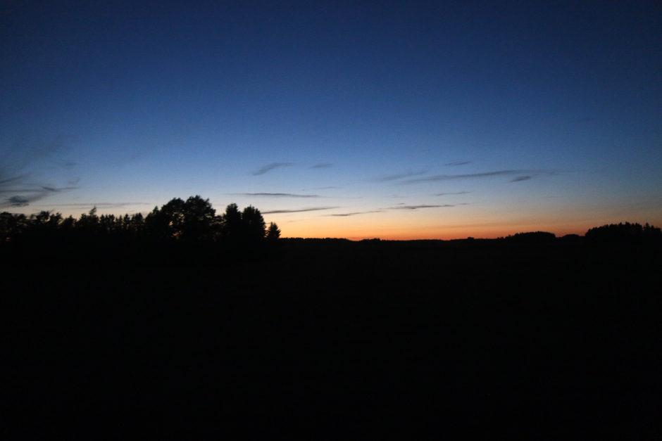 Den Sonnenuntergang und die tolle Lichtstimmung gab es gratis dazu.
