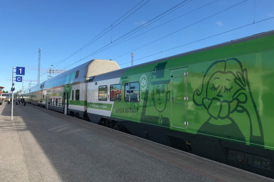 Ab Tampere führte mein Zug dann auch ein Bordrestaurant mit.