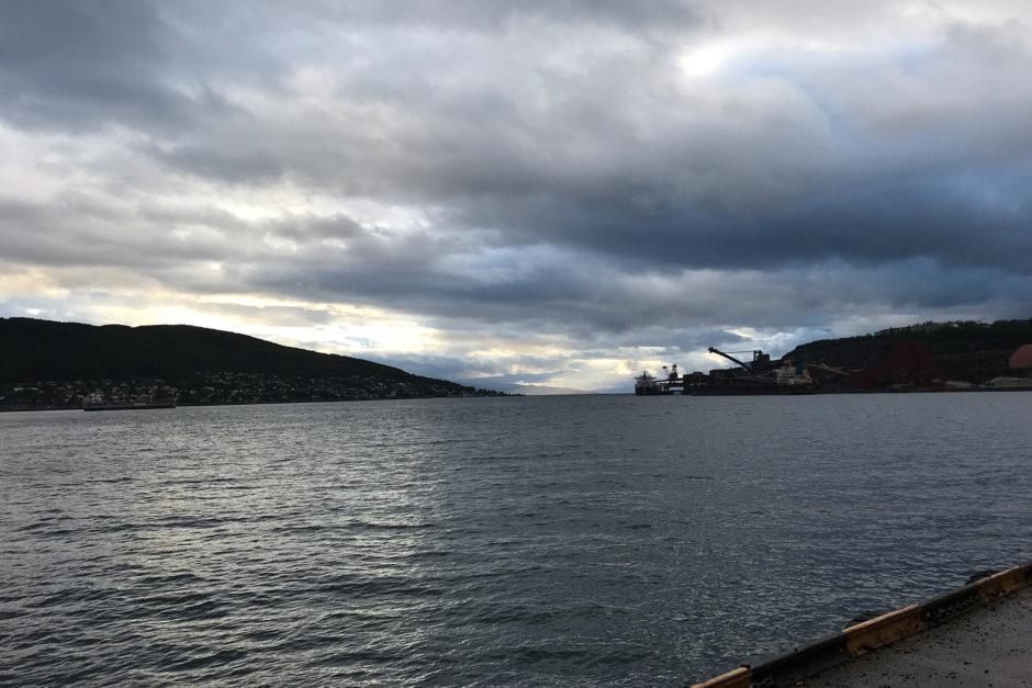 Am Hafen von Narvik hört dann fast die Welt auf.