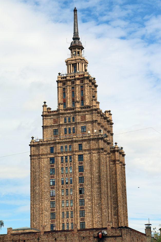 In Rigas Kulturpalast steht heute viel leer. Aber für 5 Euro kommt man auf die Aussichtsplattform.