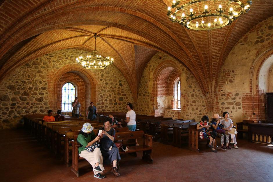 Der Thronsaal - der größte Raum der Burg.