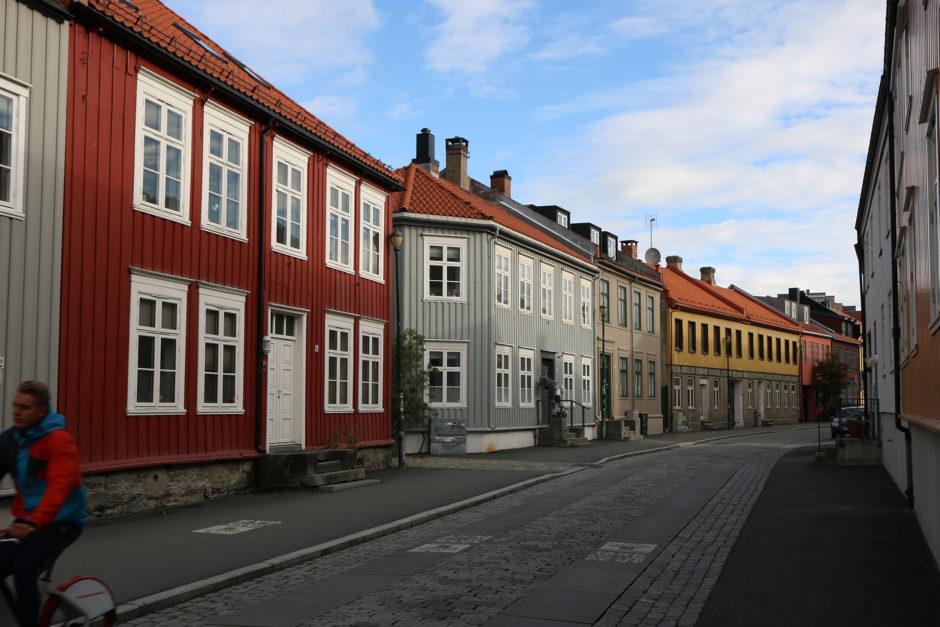 Trondheim - Sonntag früh. Noch recht verschlafen. Aber einige Radfahrer waren schon unterwegs.