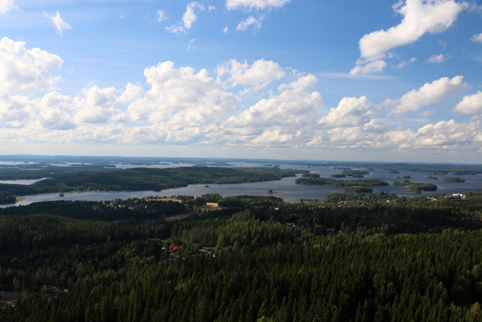 Die Aussicht vom Turm auf die Seenlandschaft war einfach traumhaft!