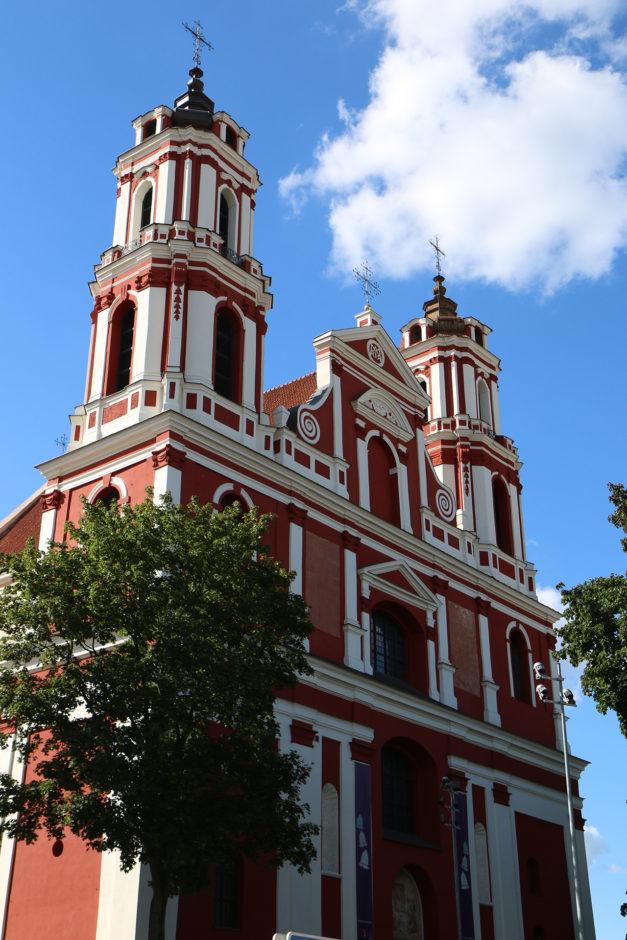 Die St.. Philip und St. Jakob-Kirche am Rand der Altstadt.