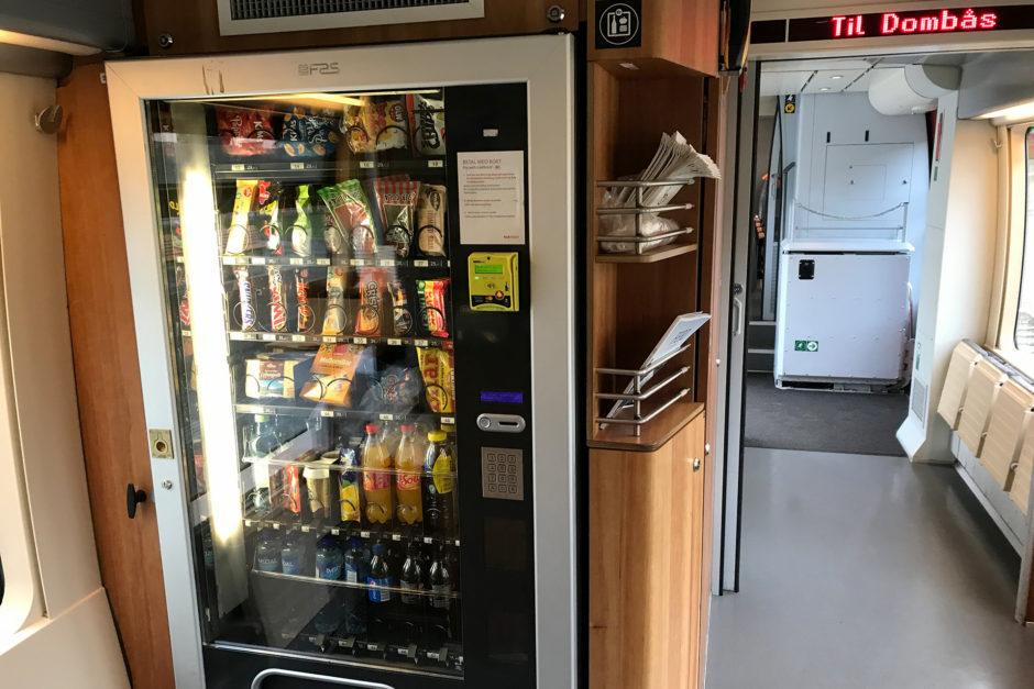 Kaffeemaschine und Snackautomat hatte in Norwegen eigentlich jeder Zug.