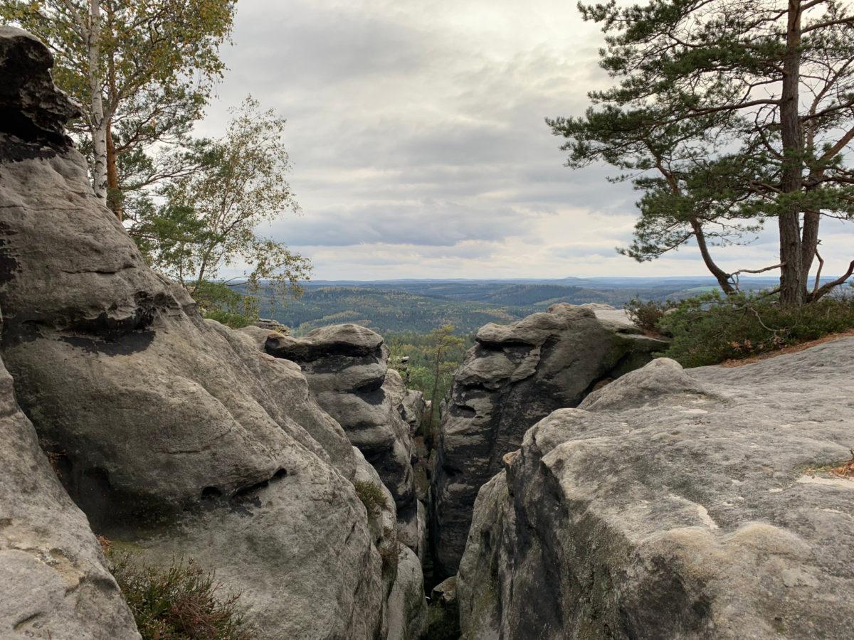 Der Ausblick vom Gohrischstein. Ziemlich toll!