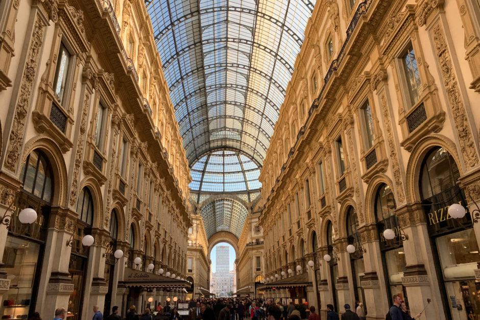 Am meisten beeindruckt in Mailand hat mich die Galleria Vittorio Emanuele II.