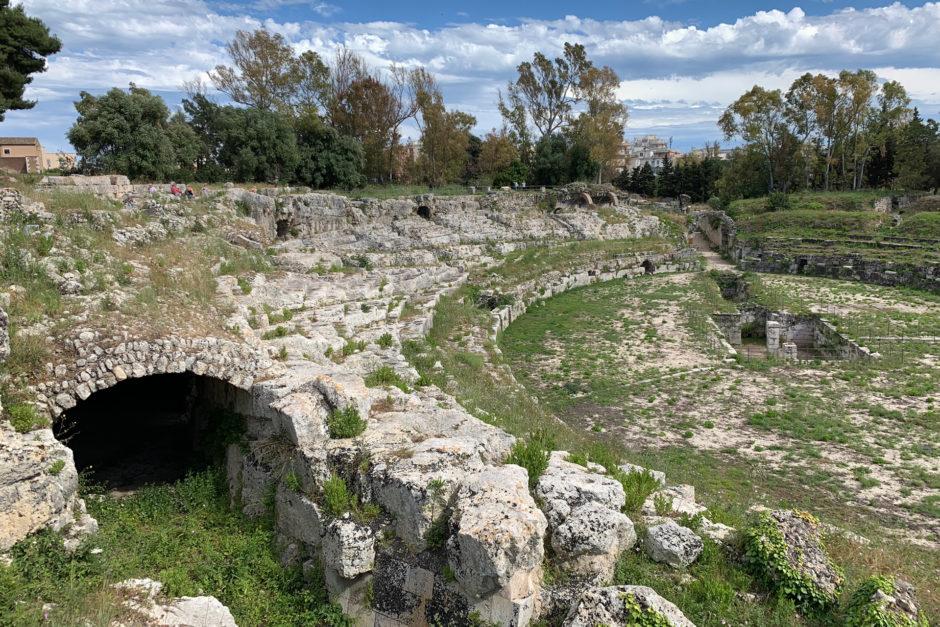 Das im 3. Jahrhundert erbaute römische Amphitheater.
