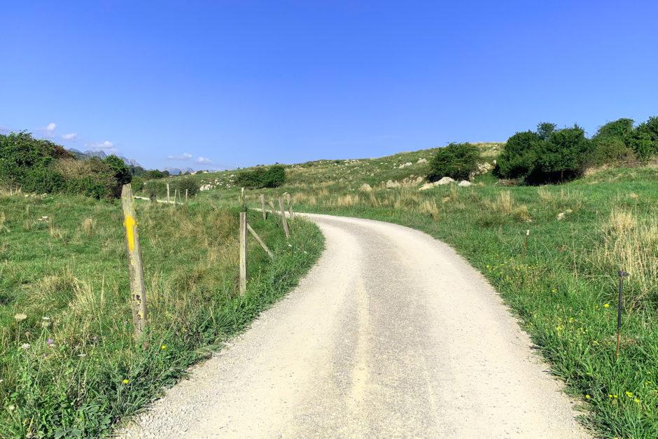Mein Weg in Spanien. Großteils war ich hier auch alleine unterwegs.
