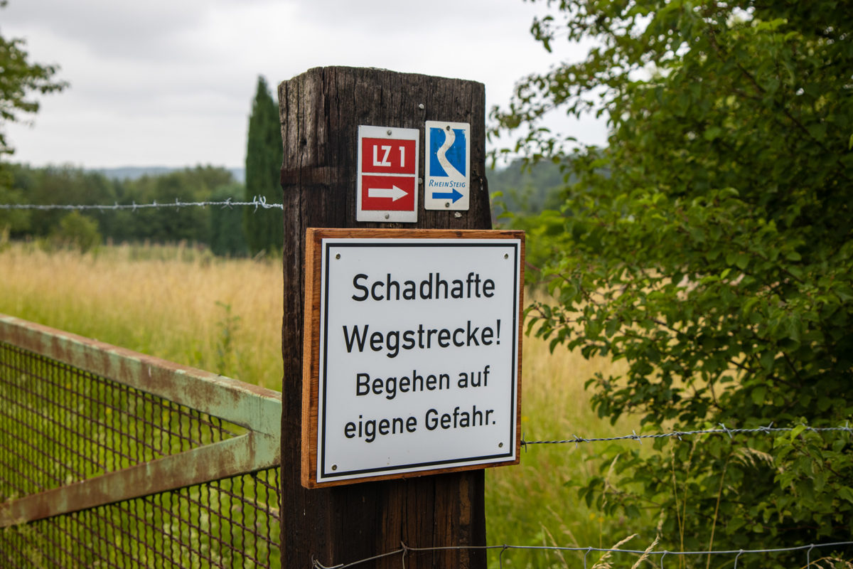 Kaputter Weg? Okay...