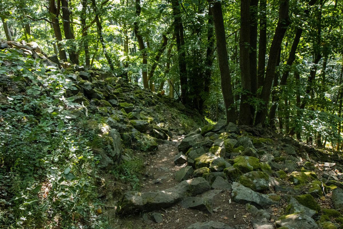 Über dieses Geröllfeld führte der Weg hoch zum Ausguck.