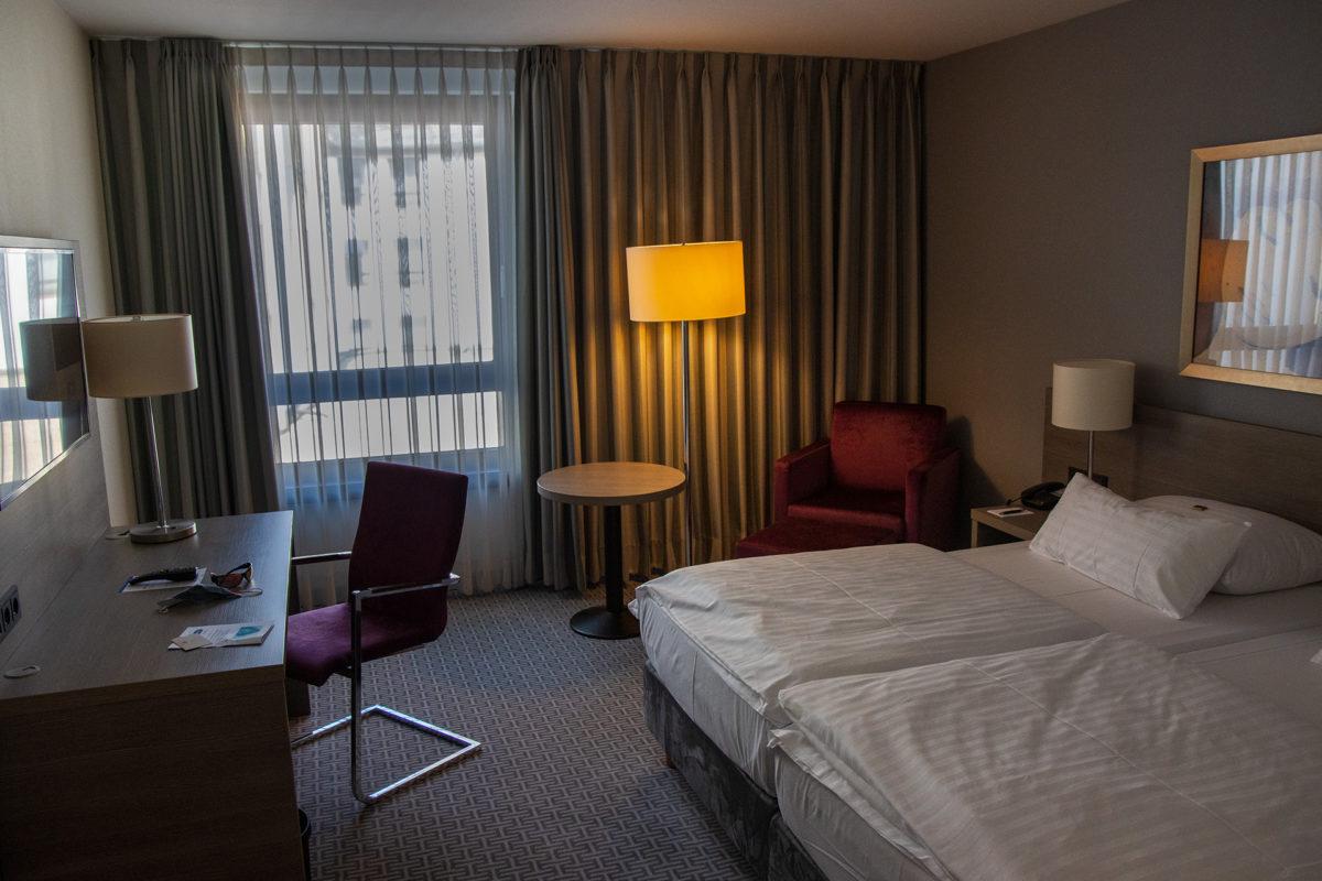Im Hotelzimmer mit Klimaanlage konnte ich meinen Körper ordentlich runterkühlen.