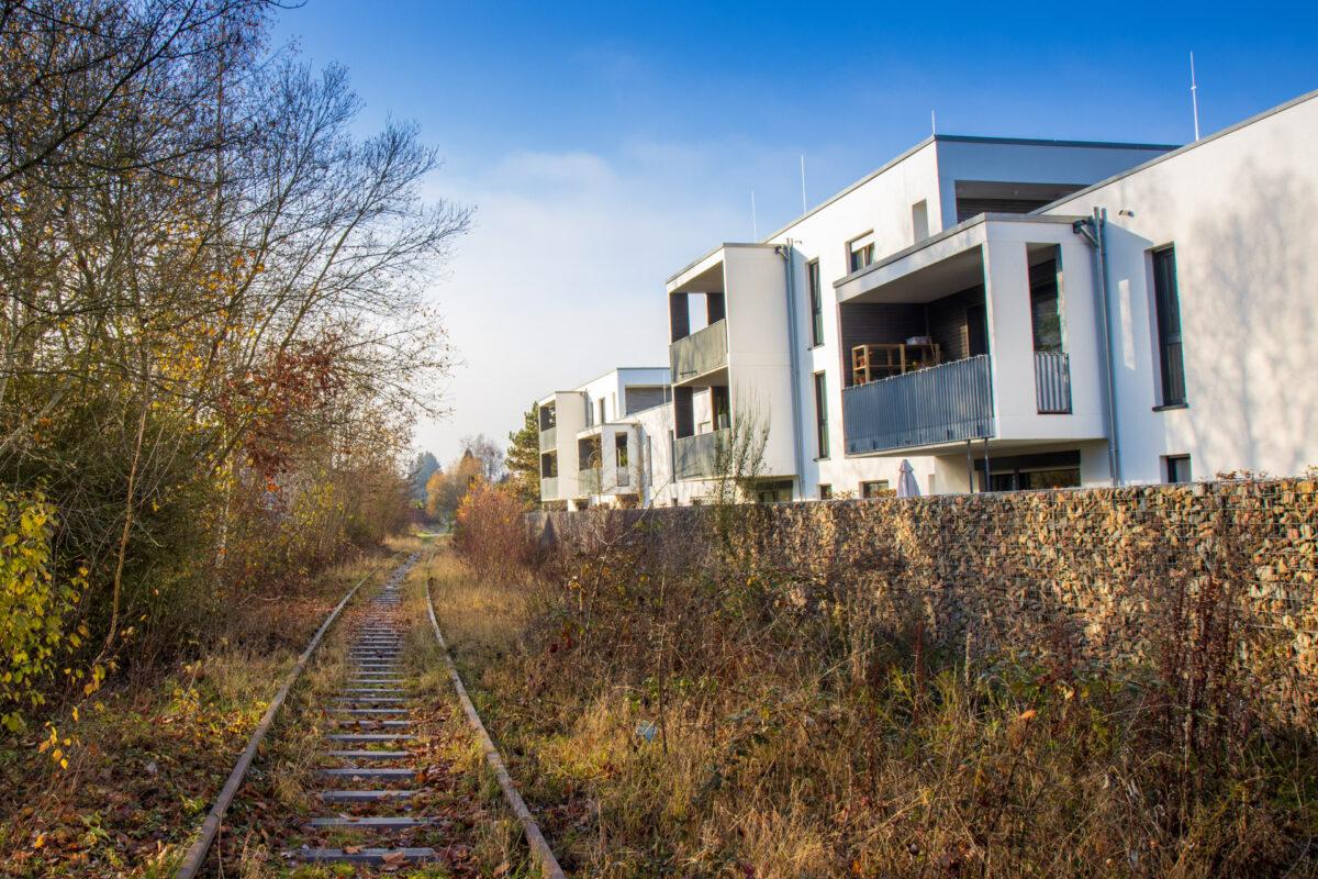 Überall entlang der Strecke durch die Taunusteiner Stadtteile wurde fleißig gebaut die letzten Jahre.