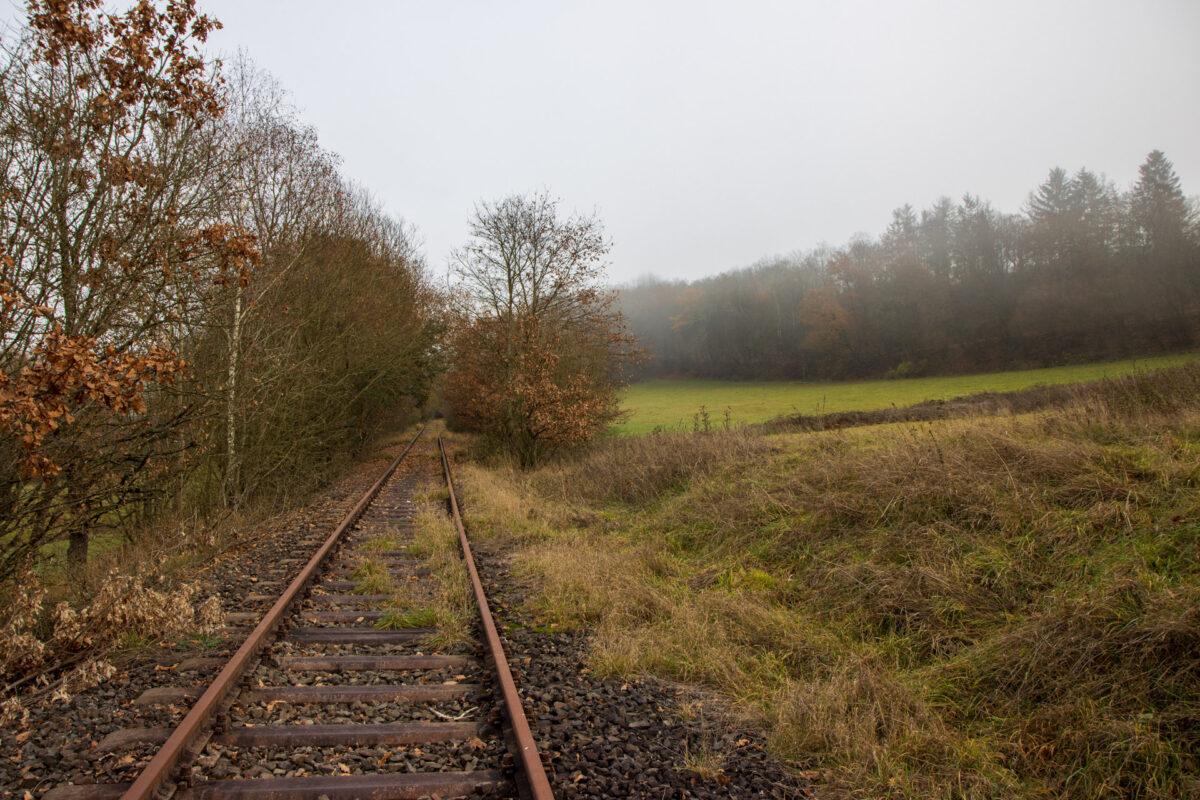 Hinter Bleidenstadt folgen dann einige Kilometer durch das breite Tal der Aar.