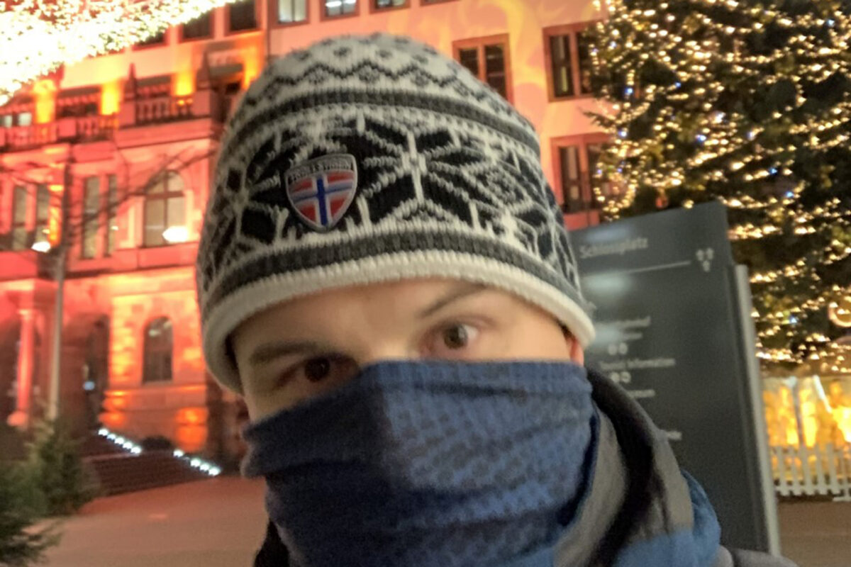 Maskenpflicht oder einfach nur kalt?