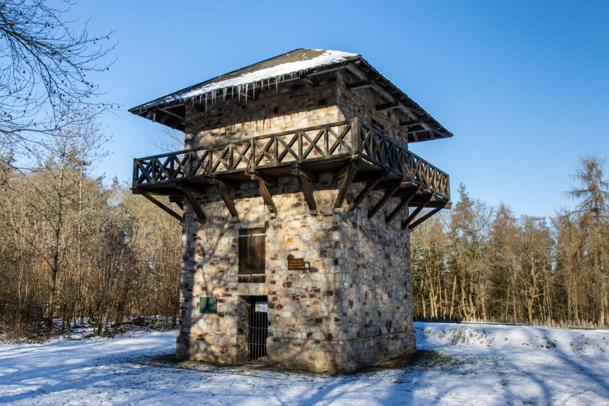 Der wunderschön rekonstruierte Wachturm des Kastell Zugmantel.