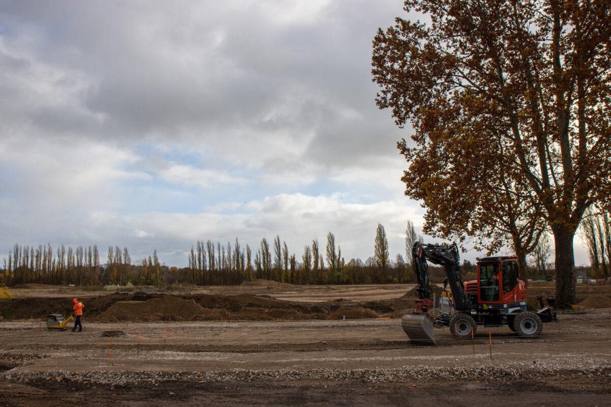 Eine Aufnahme vom November 2020 - hier entsteht die nächsten Monate das Baugebiet Erbenheim-Süd. Früher befand sich hier das Dywidag-Firmengelände.